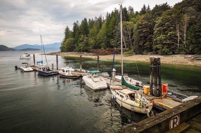 Fighting Rapids At Squirrel Cove – Desolation Sound, British Columbia
